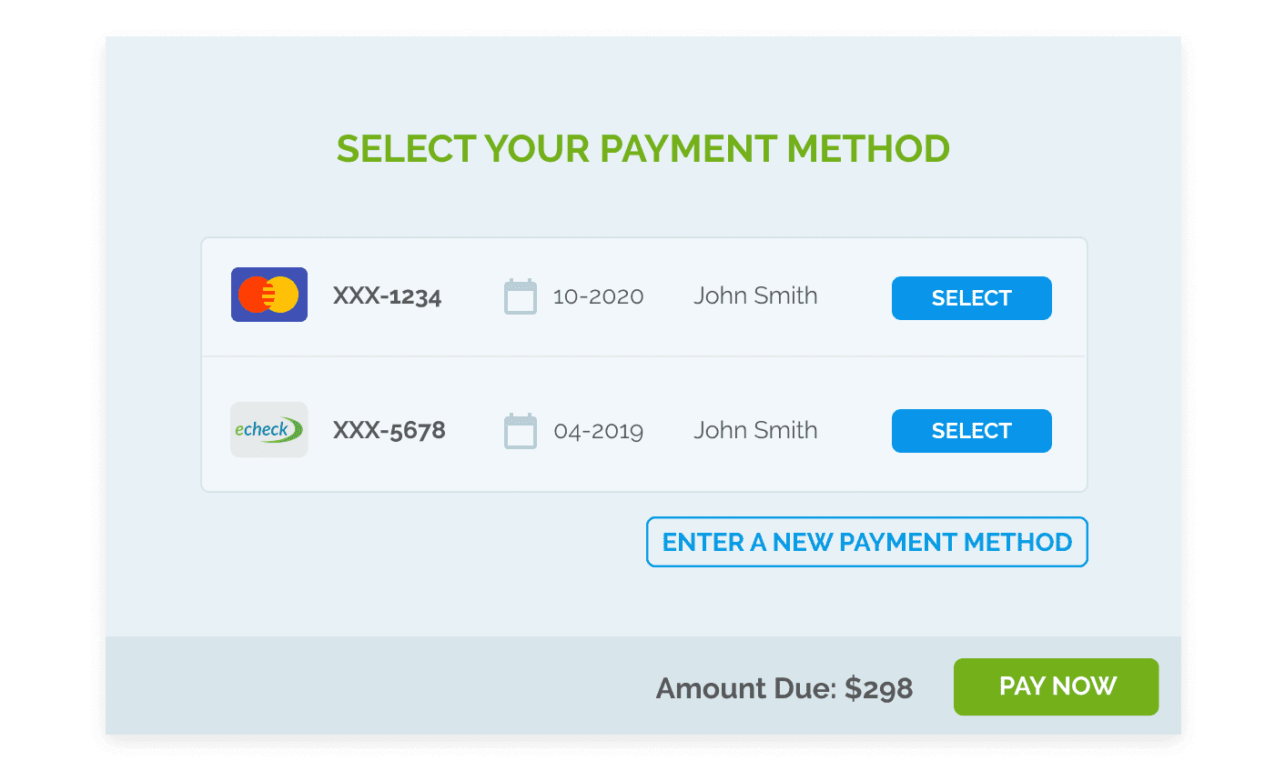 SAVE PAYMENT INFORMATION