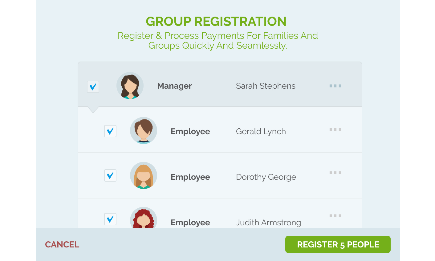 regpack group registration