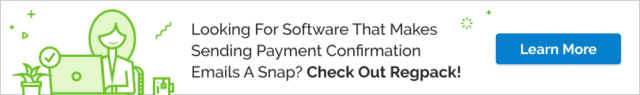 Your registration software should make it as easy as possible to confirm that payment was received with your registrations. Check out Regpack to learn what else we can do!