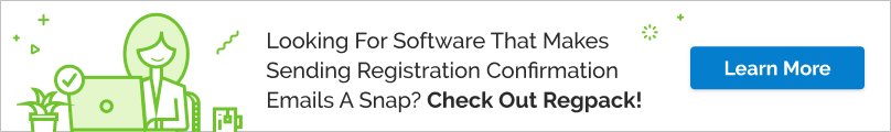 Does your software help you write and send registration confirmation emails? Check out Regpack!