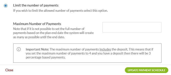 limit number of payments