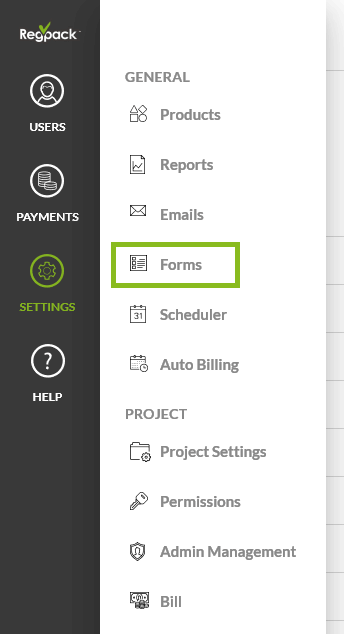 settings forms
