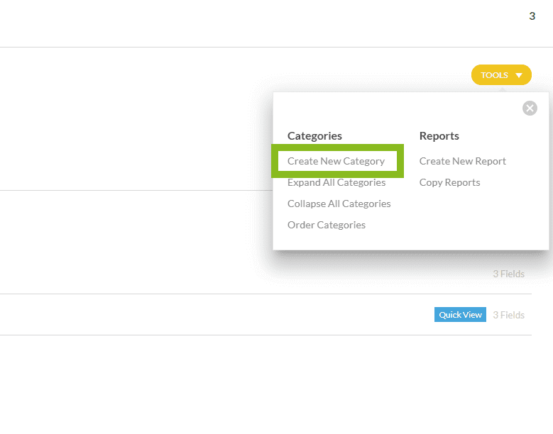 Create New Category Tools