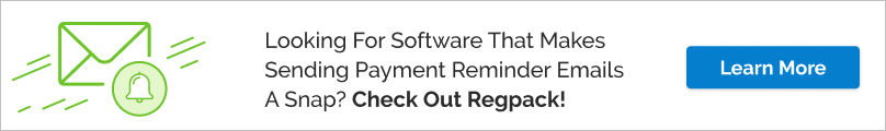 Your organization would benefit from software that helps you automate the payment reminder email process, especially if it has an integrated payment processor.