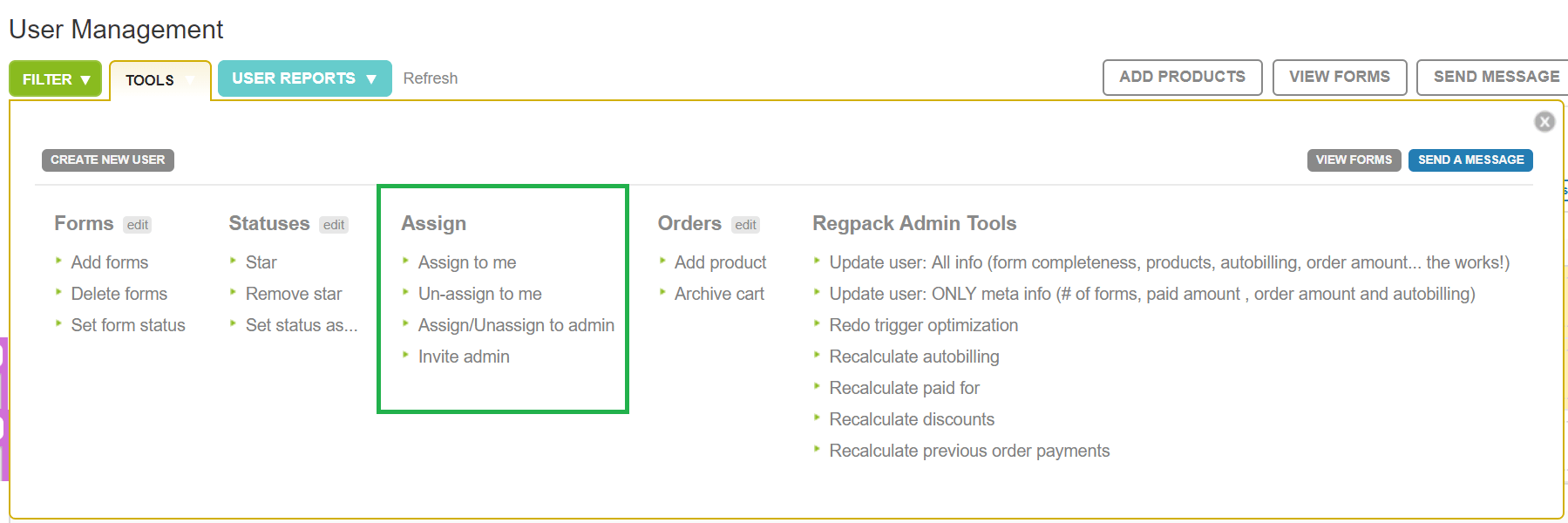 assign multiple users to an admin