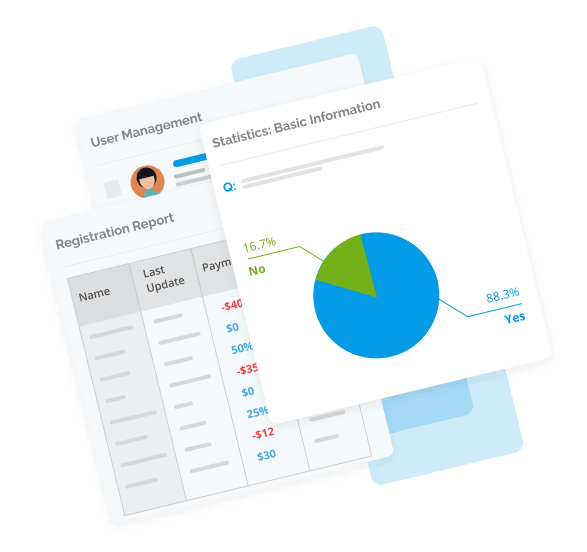 Create custom sales and payment reports in Regpack.