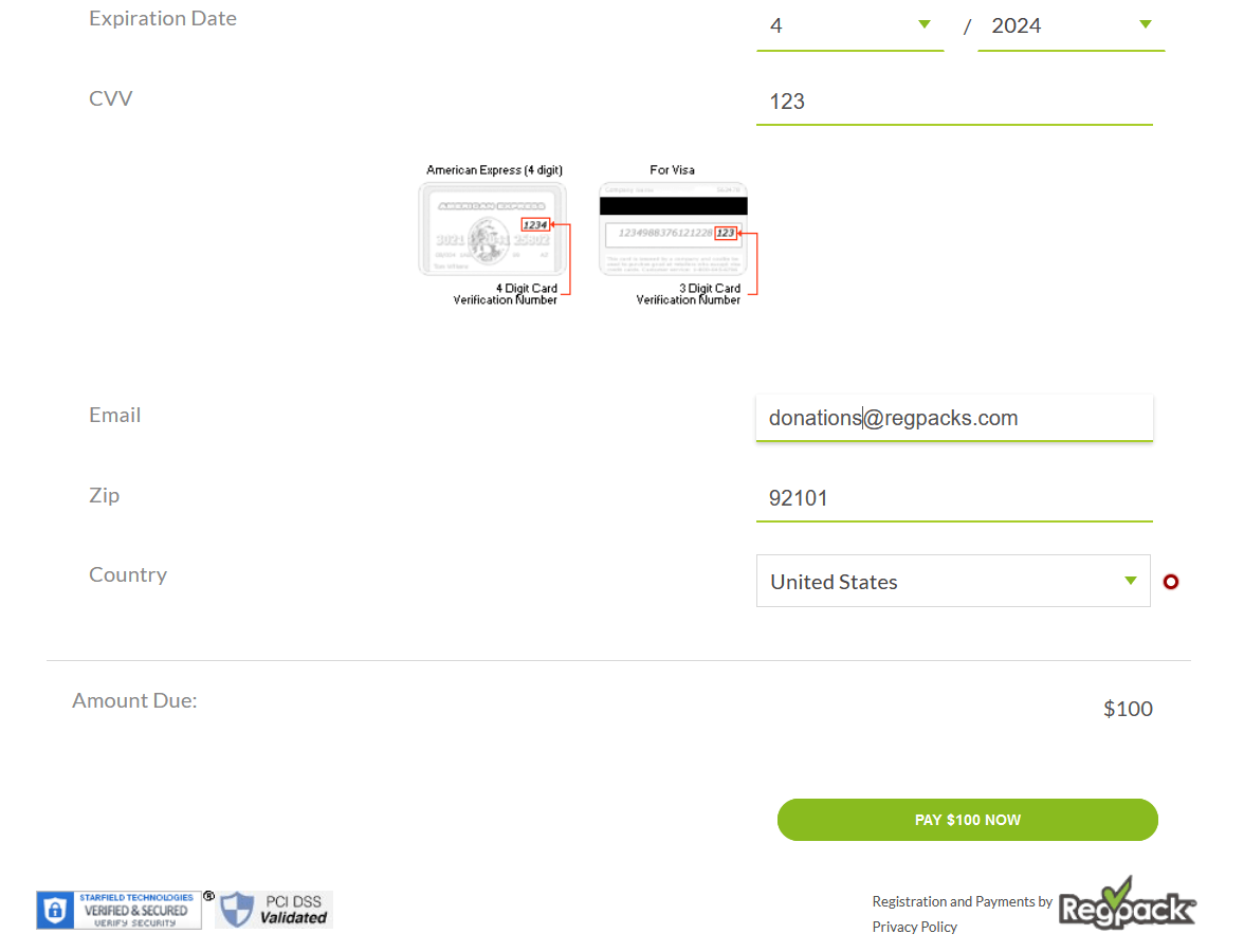 donation payment