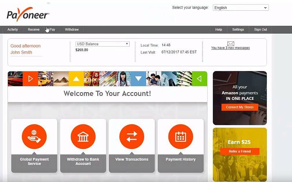 Payoneer - Payment service provider