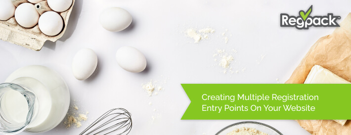 creating multiple entry points for your registration on your website