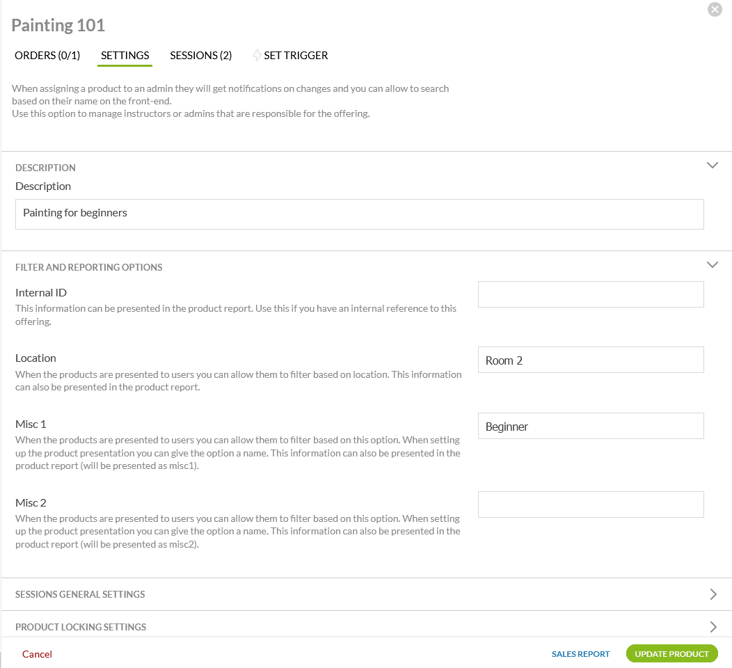 product filter settings _ products