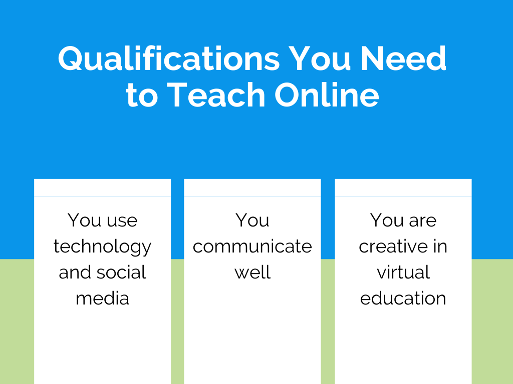 teaching online qualifications