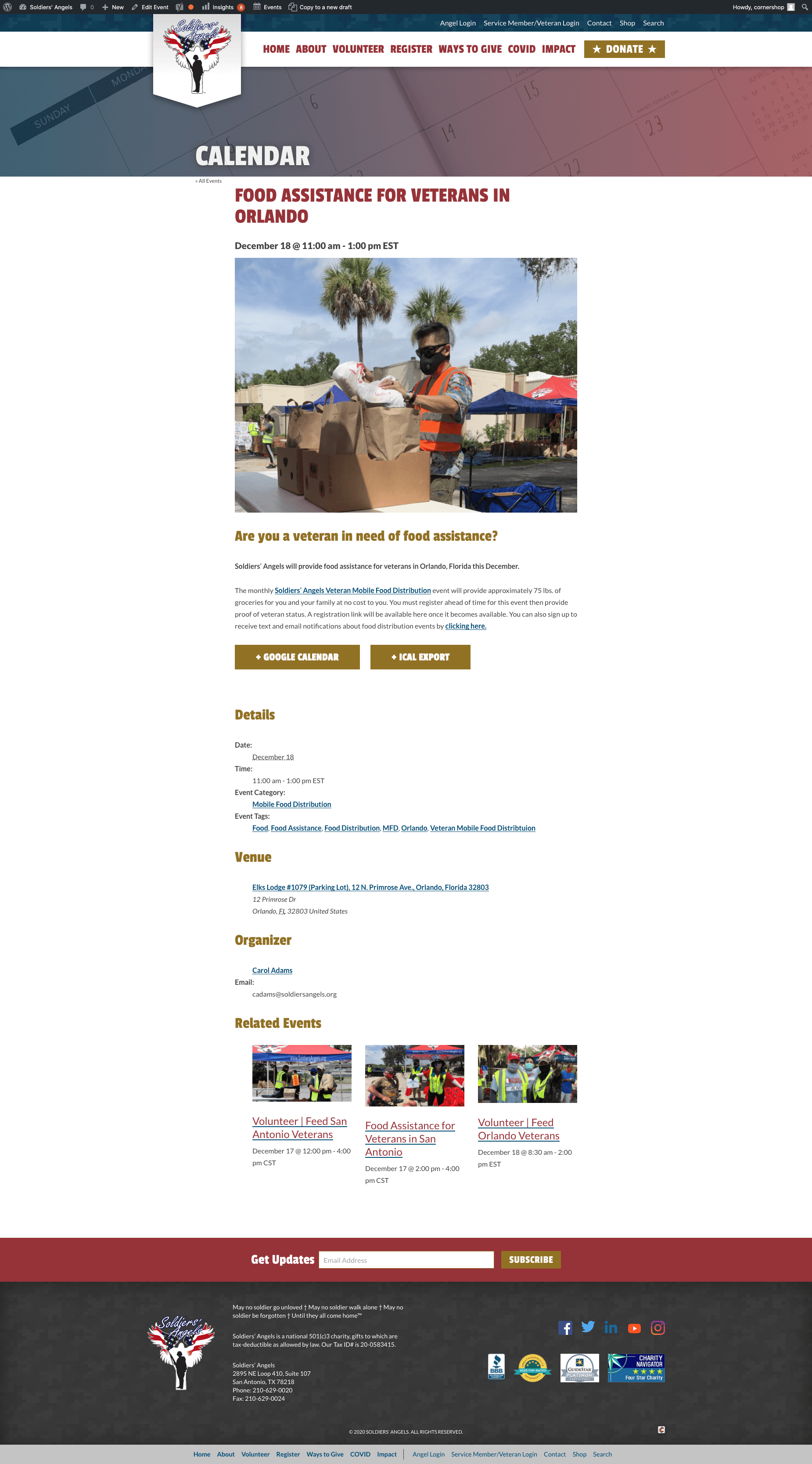 Here's an example of an effective event page.