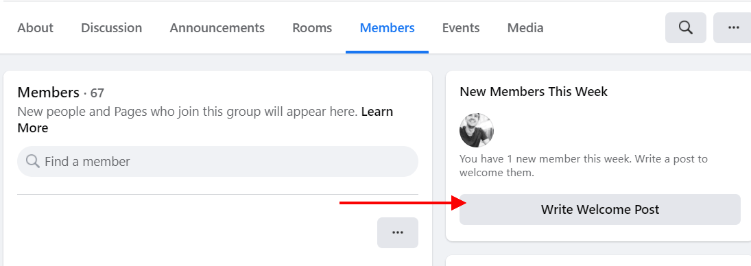welcome new members in a facebook group
