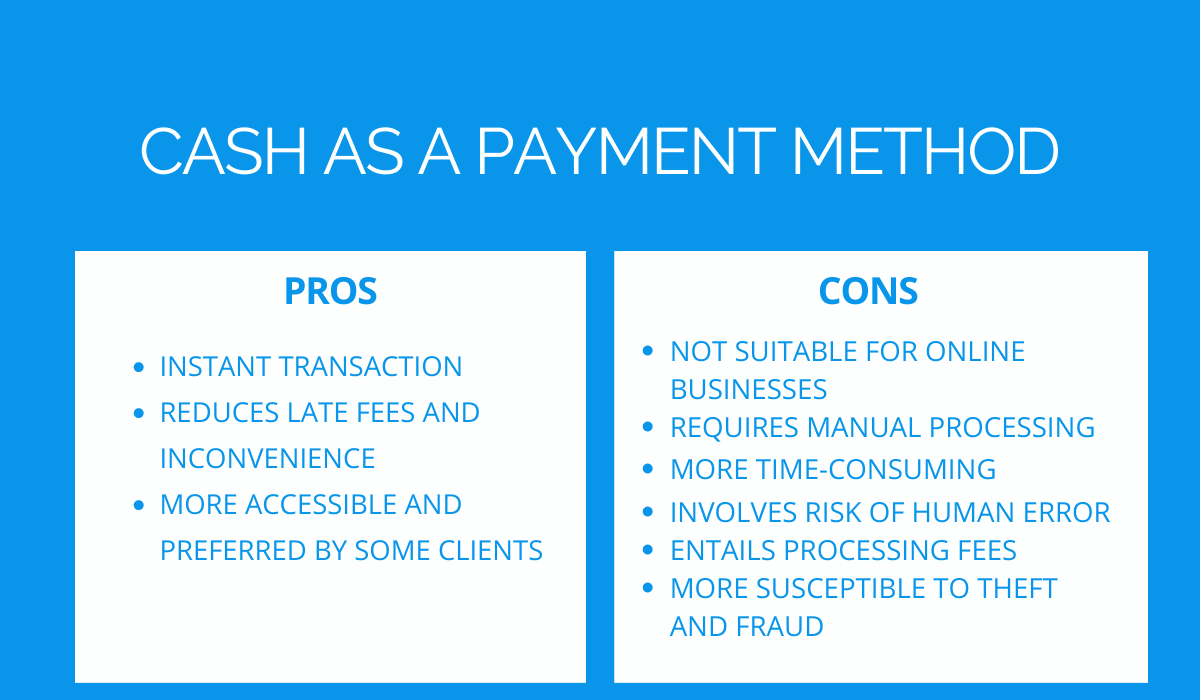cash pros and cons